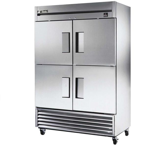 True TS-49F-4 Half Door Stainless Steel Freezer - 49 Cu. Ft.