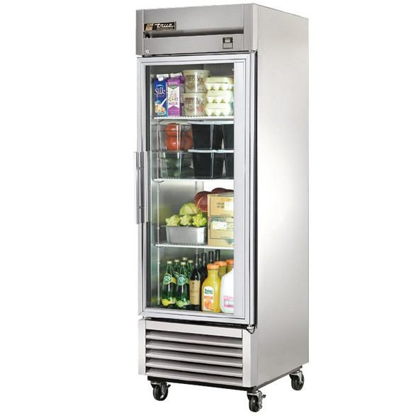 TS-23G True 23 Cu. Ft. Stainless Steel 1 Glass Door Refrigerator