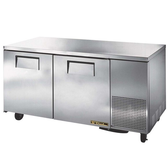 "TUC-67 True 67"" 2 Door Deep Undercounter Refrigerator"