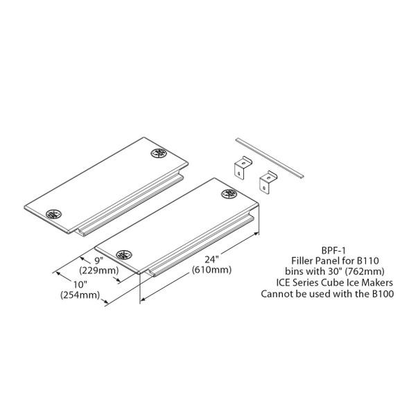 Ice-O-Matic BPF-1 Filler Panel Adapter Kit