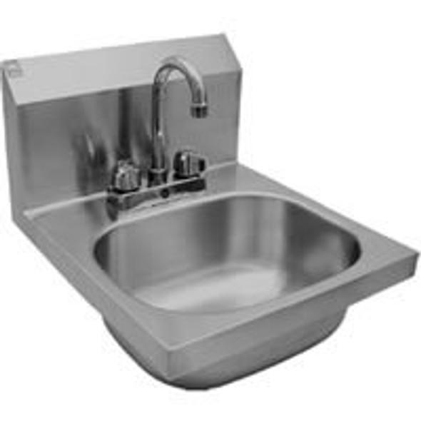 BK Resources BKHS-D-SS-P-G Lead Free Deck Mount Hand Sink