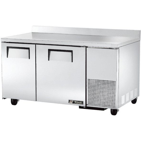 "TWT-60-32F True 60"" 2 Door Deep Worktop Freezer"