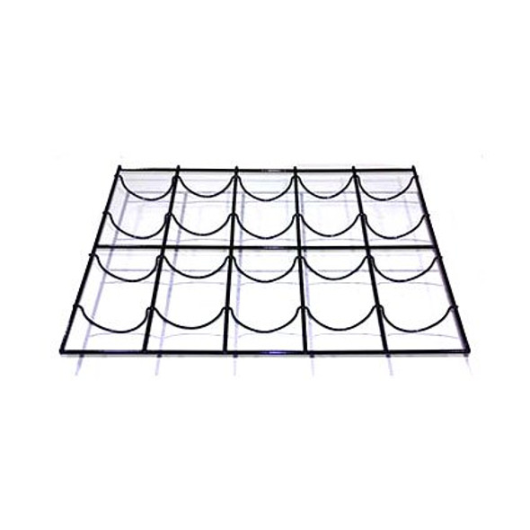 Image of the black True 868664-093 wine rack kit with 4 shelf clips