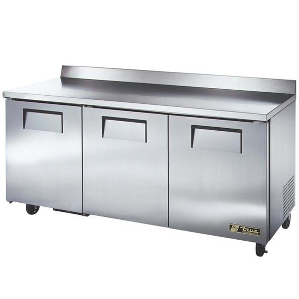"""TWT-72 True 72"""" 3 Door Worktop Refrigerator"""