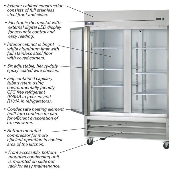 Arctic Air Refrigerator features