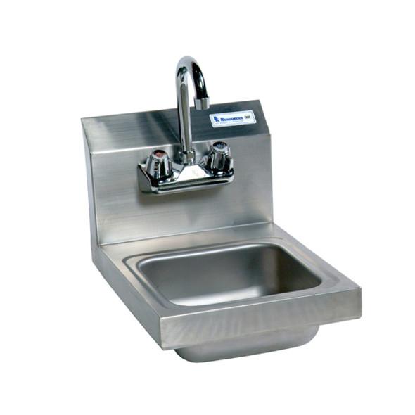 BK Resources BKHS-W-SS-P-G Lead Free Splash Mount Hand Sink