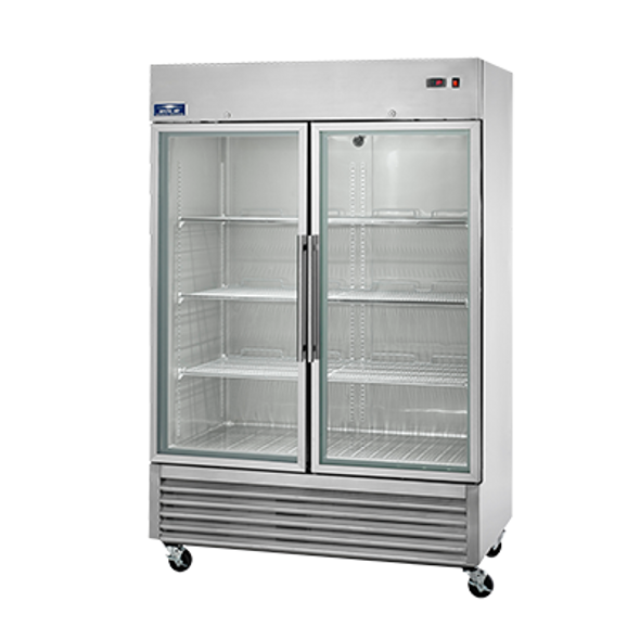 Arctic Air AGR49 - Double Glass Door Reach-in Refrigerator - 49 cubic feet