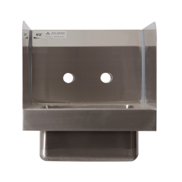Atlantic Metalworks Hand Sink with Side Splash and Wall Mount