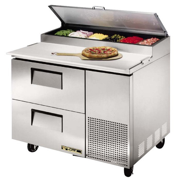 "TPP-44D-2 True 44"" Pizza Prep Table w/ 2 Drawers"