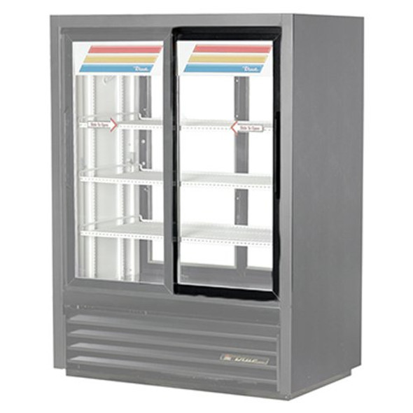Image of the True 935572 door assembly installed on a merchandiser