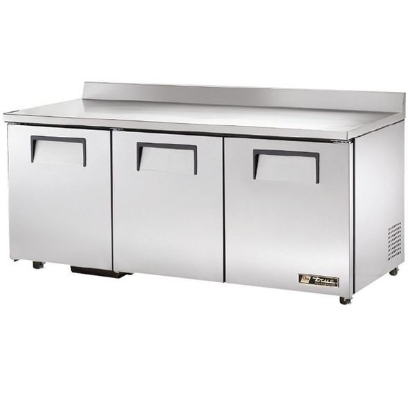 """TWT-72-ADA True 72"""" 3 Door Worktop Refrigerator"""