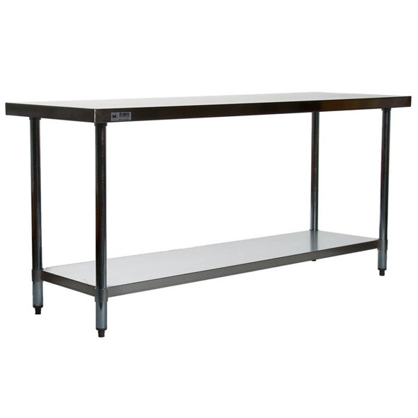 "Atlantic Metalworks STT-2472-E 24"" x 72"" Stainless Steel Work Table"