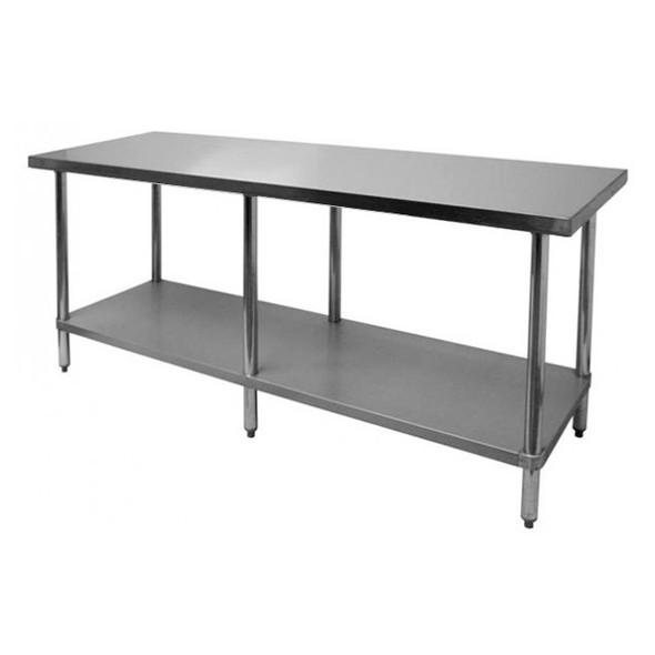 "Atlantic Metalworks STT-2484-E 24"" x 84"" Stainless Steel Work Table"