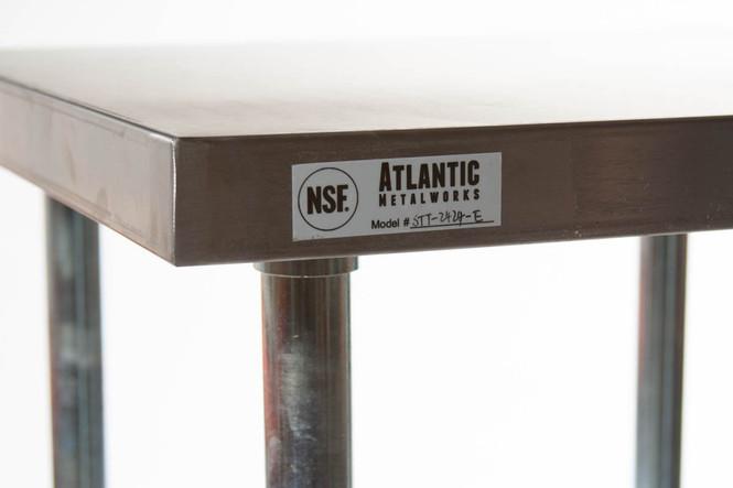 Atlantic Metalworks table countertop edge