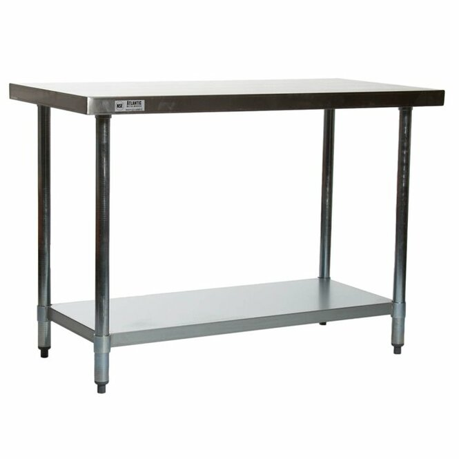 "Atlantic Metalworks STT-2448-E 24"" x 48"" Stainless Steel Work Table"