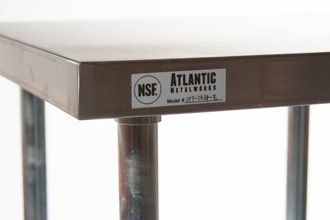 Atlantic Metalworks Stainless Steel Work Table corner