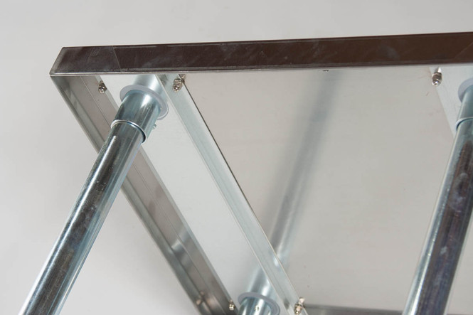 Atlantic Metalworks Stainless Steel Work Table underneath