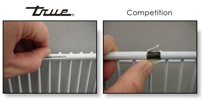 True's T-Series shelves compared with polymer-coated competition