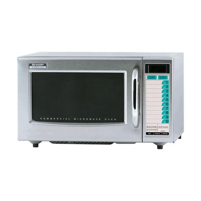 Angle view of Sharp R-21LTF 1000W Microwave