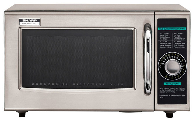 Front view of Sharp R-21LCF 1000W Commercial Microwave