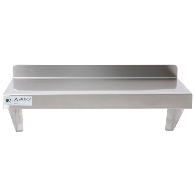 Atlantic Metalworks WS-1624-E Stainless Steel Wall Shelf Assembled