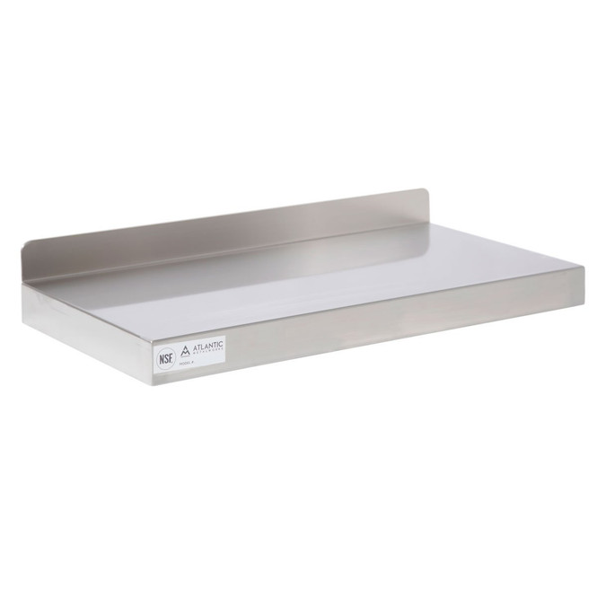 Atlantic Metalworks WS-1624-E Stainless Steel Wall Shelf