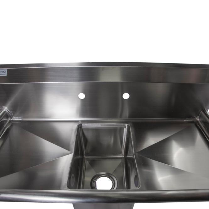 Atlantic Metalworks 10 x 14 x 10 Bowl - 1 Compartment Sink - Top