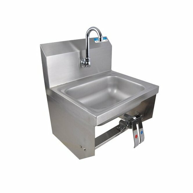 Angle view of BK Resources BKHS-W-1410-1-BKKPG Stainless Sink