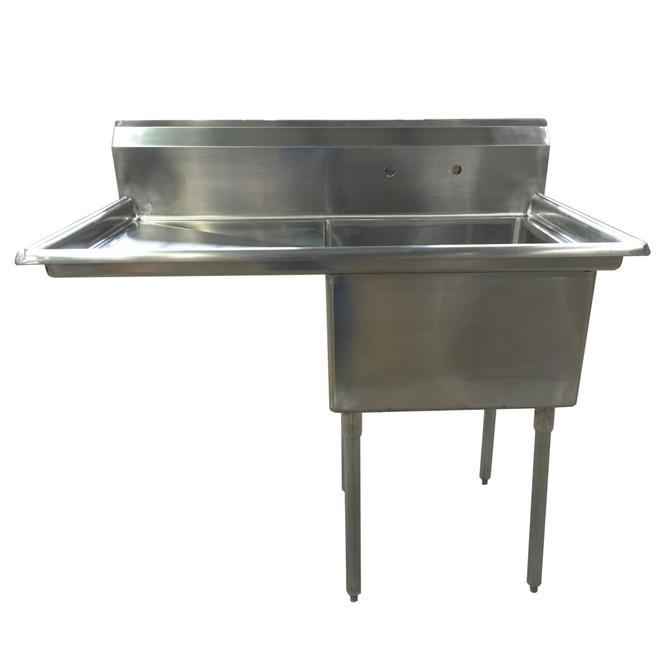 Atlantic Metalworks - 24 x 24 x 14 Bowl - 1 Left Drainboard - 1 Compartment Sink