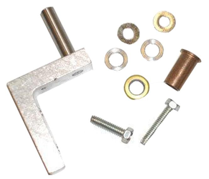 Image of the hinge bracket in the True 870810 bottom door hinge kit.