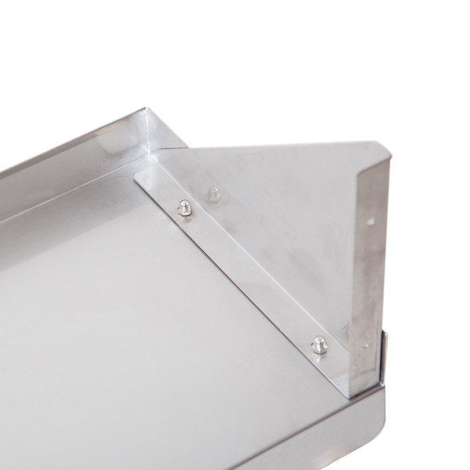 Atlantic Metalworks WS-1272-E Stainless Steel Wall Shelf Bracket