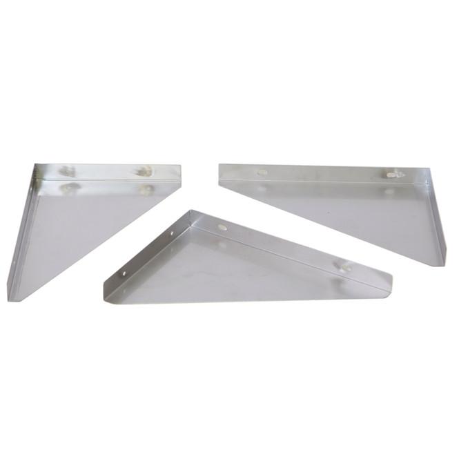 Atlantic Metalworks WS-1272-E Stainless Steel Wall Shelf Brackets