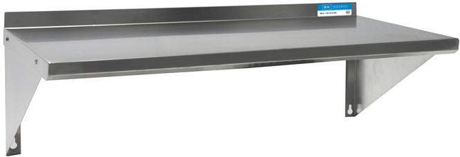 "BK Resources BKWS-1224 - T-304 Premium Stainless Wall Shelf 12"" x 24"""