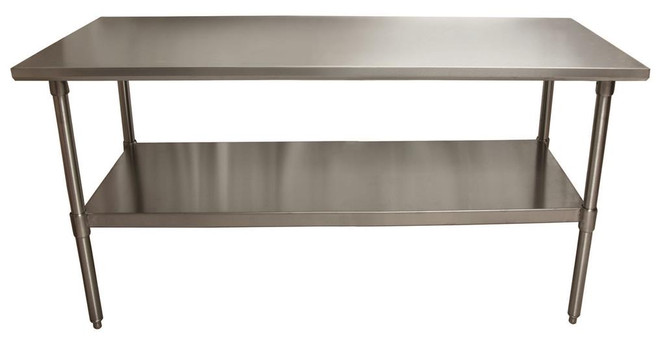 """BK Resources VTT-7230 - Stainless Steel Work Table - 72"""" L x 30"""" W"""