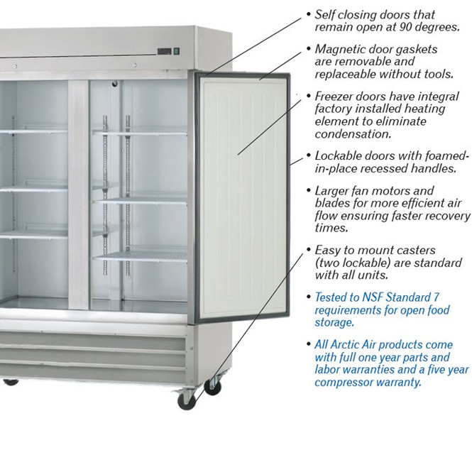 Arctic Air Freezers come standard with amazing features.