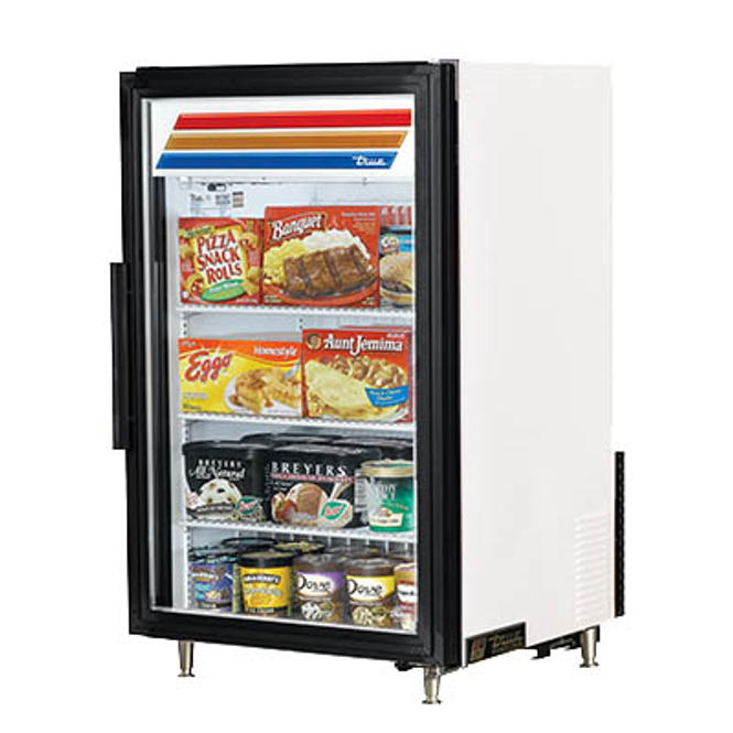 True GDM-07F-HC~TSL01 Glass Swing Door Merchandisint Freezer
