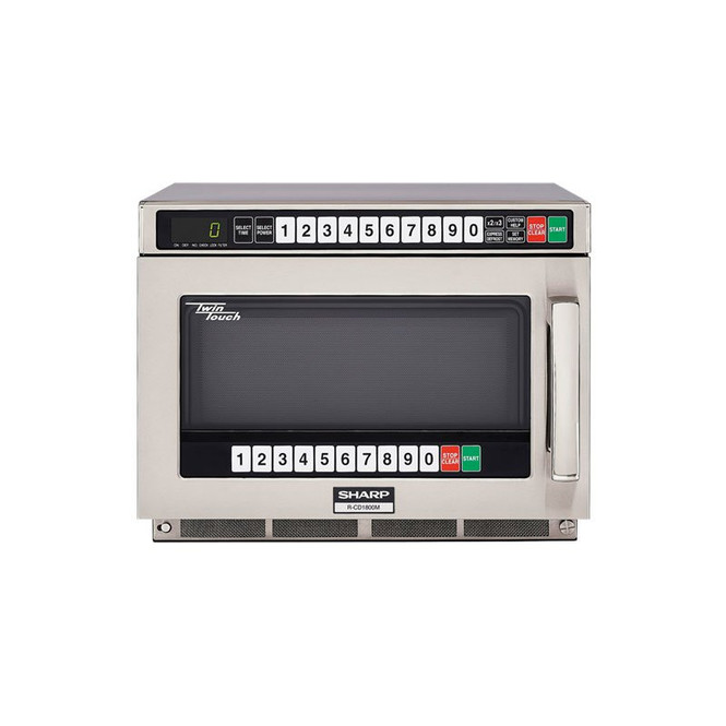 Front view of Sharp's R-CD1800M 1800W TwinTouch Microwave