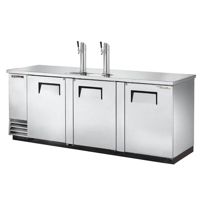 True TDD-4-HC Kegerator Direct Draw Beer Dispenser - 4 Kegs - Stainless Steel