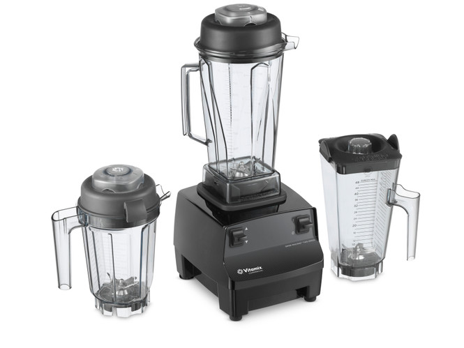 Vitamix 62828 - 64oz Two Speed Drink Machine Commercial Blender with optional equipment shown.