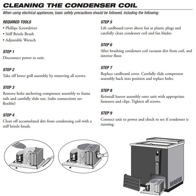 How-to picture of condenser cleaning