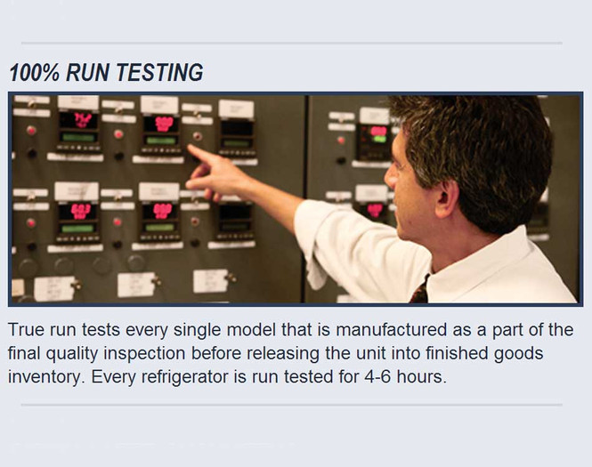 True product testing