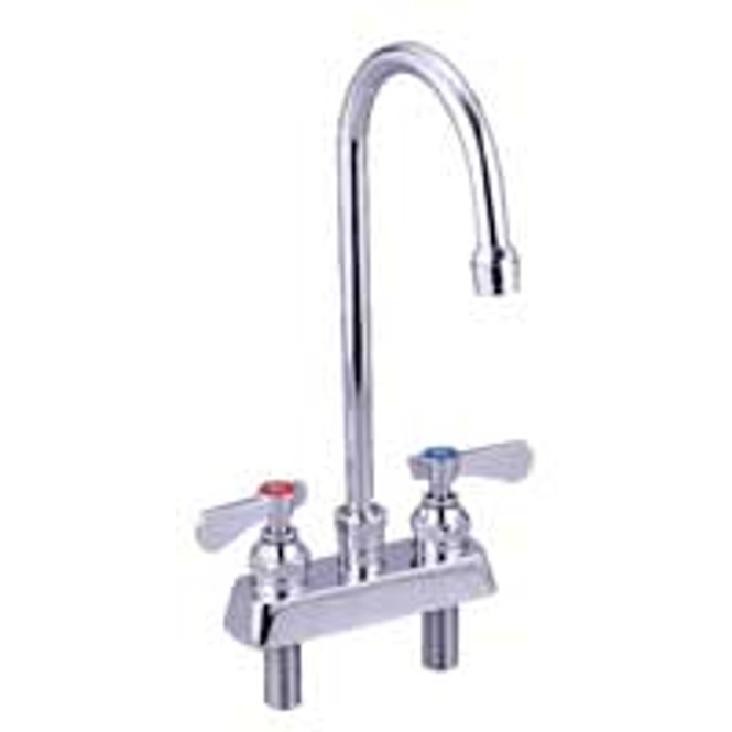 "BK Resources BKF-4DM-3G-G Deck Mount Faucet w/3.5"" Gooseneck Spout - Lead Free"