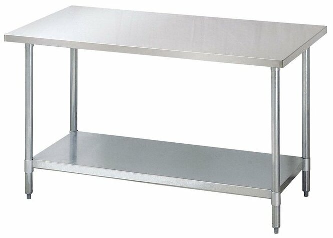 """60"""" x 30"""" All-Stainless Steel Work Table"""