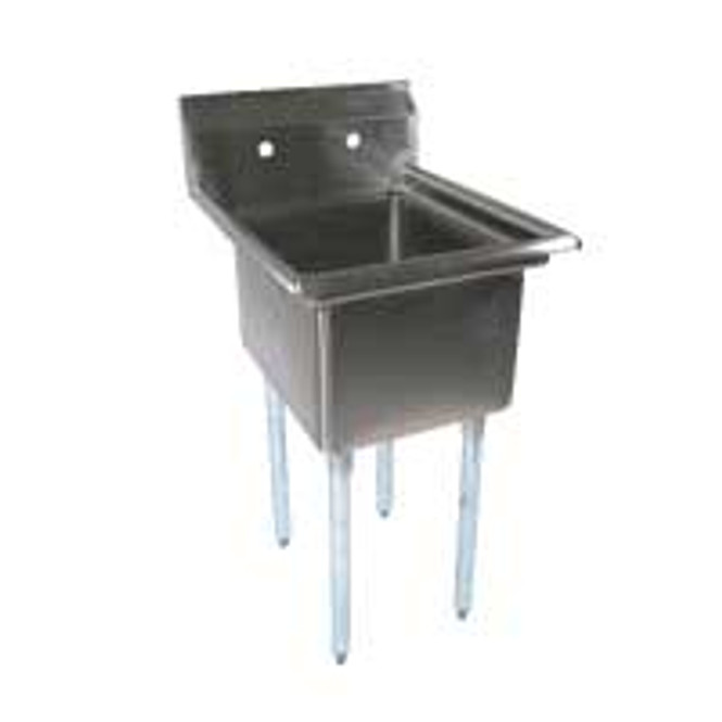 BK Resources BKS-1-18-12 - 18x18x12 Bowls No Drainboard 1 Comp Sink
