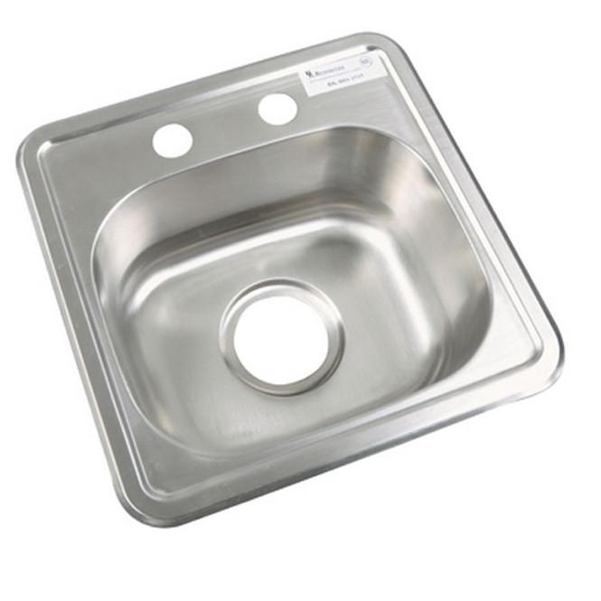 "BK Resources BK-DIS-1515-P-G Lead Free Drop-In Sink 12"" x 10"""