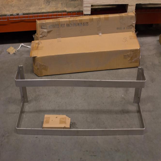 OPEN BOX - NEW | Wall Mounted Pot Rack PR-WM-48-SS