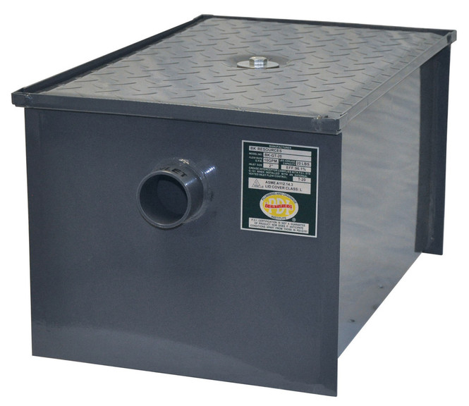 BK Resources BK-GT-30 Grease Trap - 30 lbs - 15 gpm