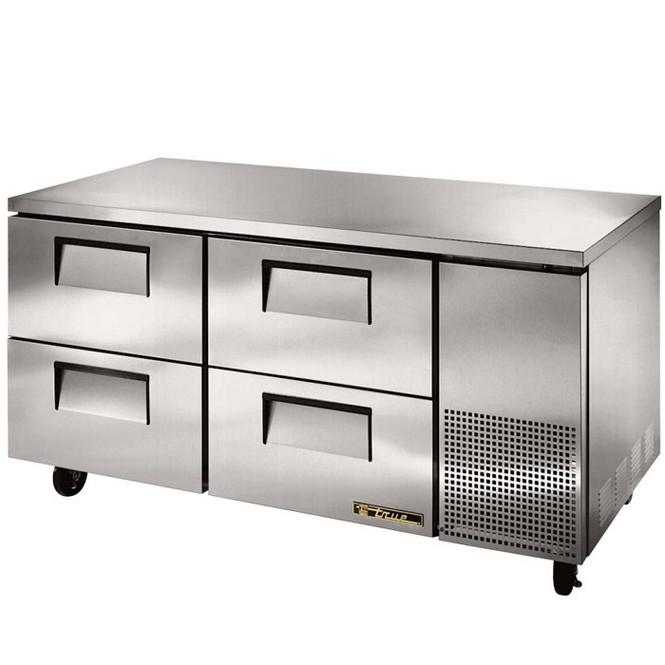 "TUC-67D-4 True 67"" 4 Drawer Undercounter Refrigerator"
