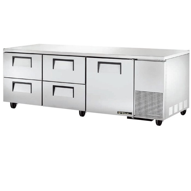 "TUC-93D-4 True 93"" 4 Drawer Undercounter Refrigerator"