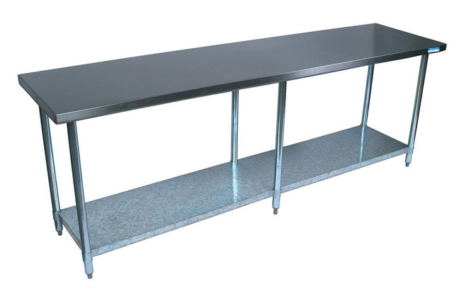 """BK Resources VTT-9630 - Stainless Steel Work Table - 96"""" L x 30"""" W"""